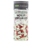 Asda Photo Cake Decorations : Asda Chosen by You Cake Decorations Holly Sprinkles 64g