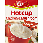 Erin Hotcup Croutons Chicken & Mushroom Soup 3 Single Servings 80g